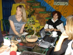 Breny y Mirta en Paradiso, una tarde de enero de 2010
