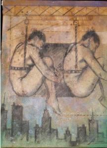Pintura de Leonardo González robada de Café Paradiso el 20 de mayo de 2010