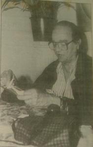 Filánder Díaz Chavez, 1996 en Café Paradiso, durante la presentación de  su obra En el frente de la tragedia