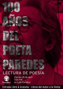 Afiche Rigoberto Paredes….
