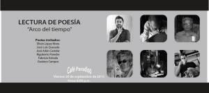lectura de poesía de Rigo, Fabri, Gustavo, Adán, López Nieto
