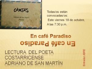 Lectura  el poeta  costarricense