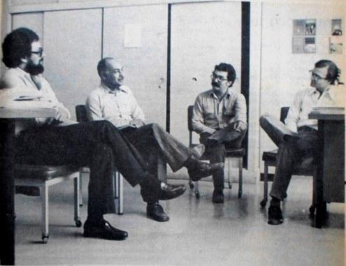 Rigoberto, Roberto Sosa, Roberto Castillo y Hernan Antonio Bermúdez
